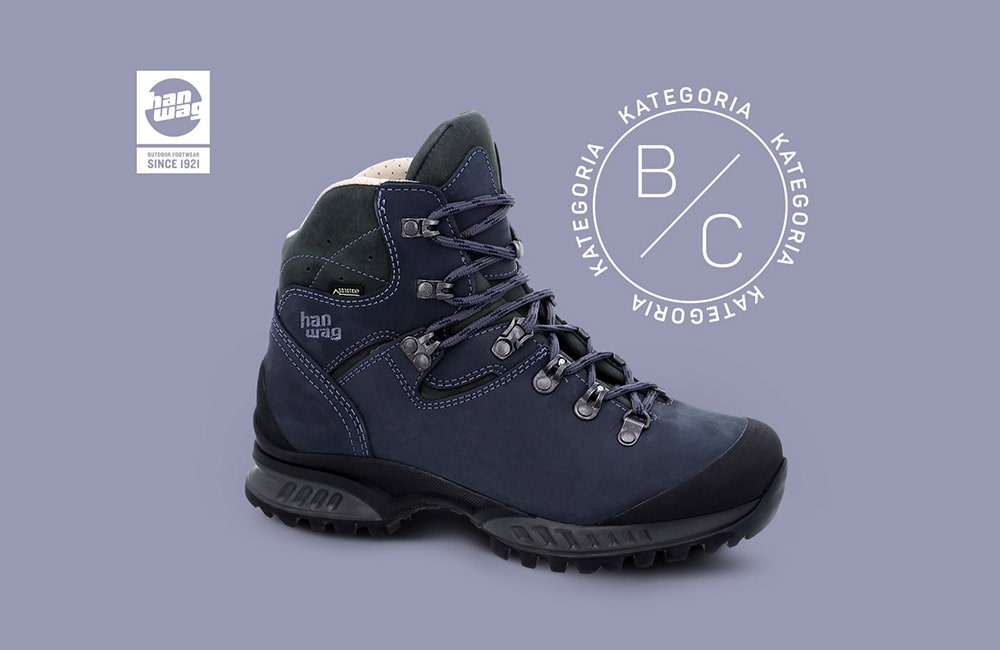 buty górskie Hanwag o sztywności B C