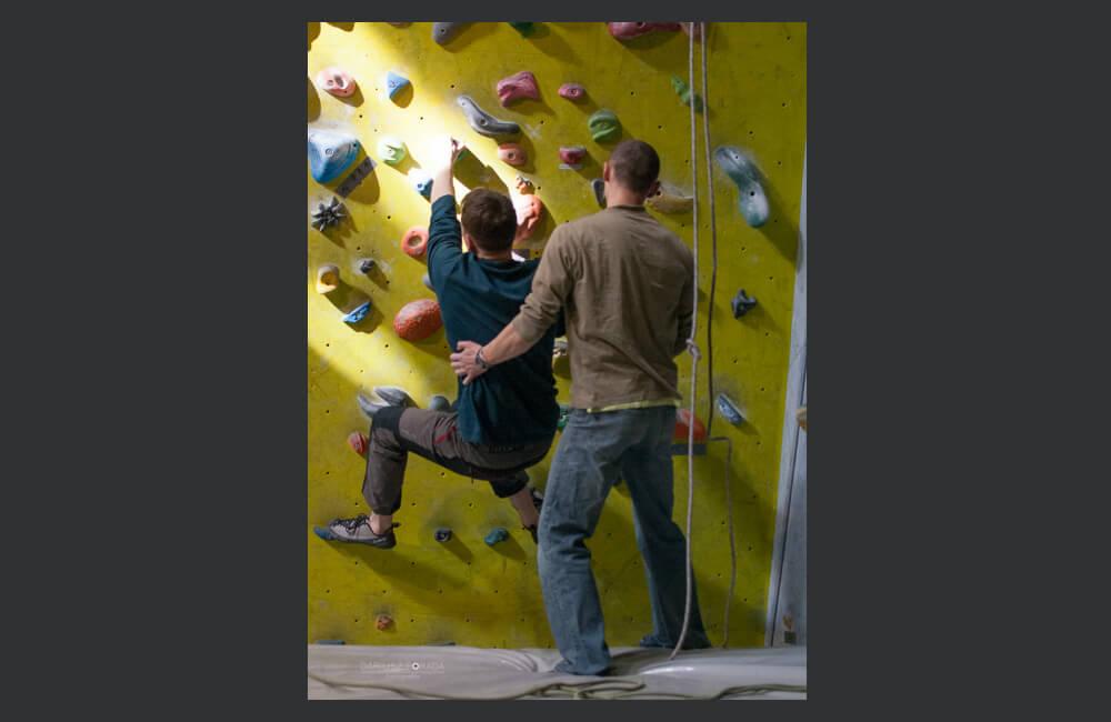 Asystuj skutecznie- spotowanie jest ważnym elementem bezpieczeństwa na ścianie ( fot. autor)
