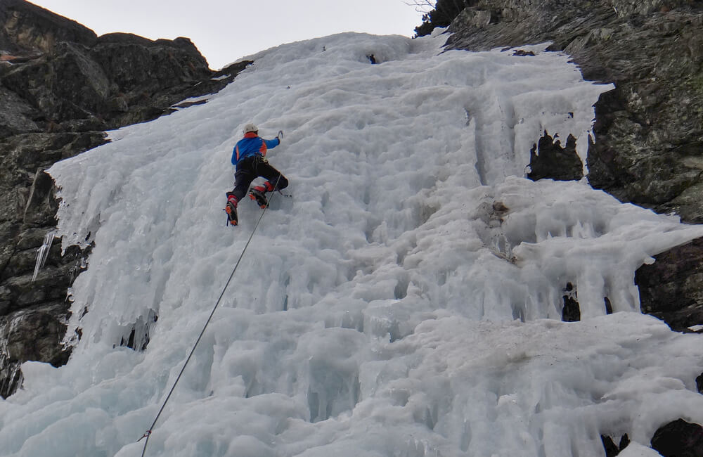 Na lodospadzie Veverki (fot. autor)