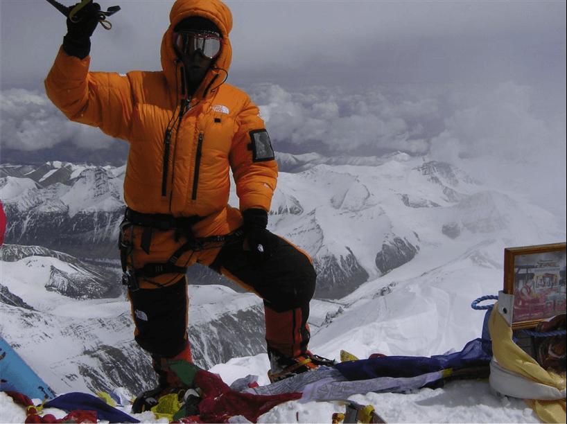 Autor na szczycie najwyższe góry świata