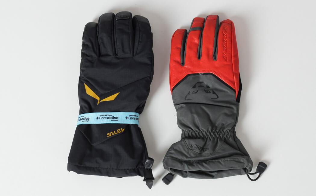 Rękawica GORE-TEX Salewa Antelao Gloves i Dynafit Chugach Glove