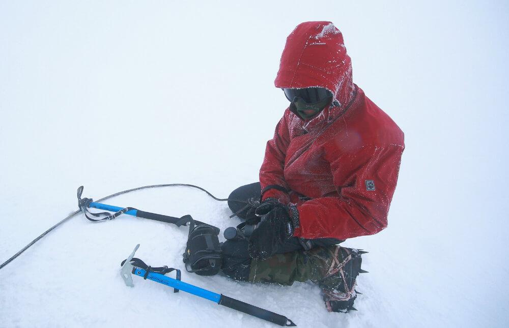 Autor na Mount Blanc
