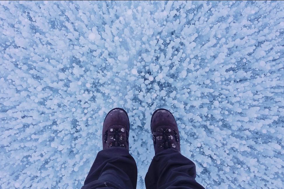Bajkał pod stopami (fot. autorka)