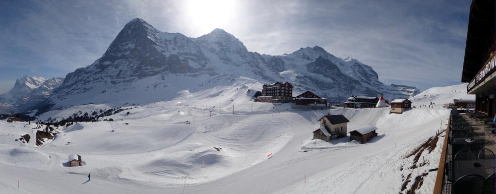 Panorama z Kleinescheidegen (fot. autor)