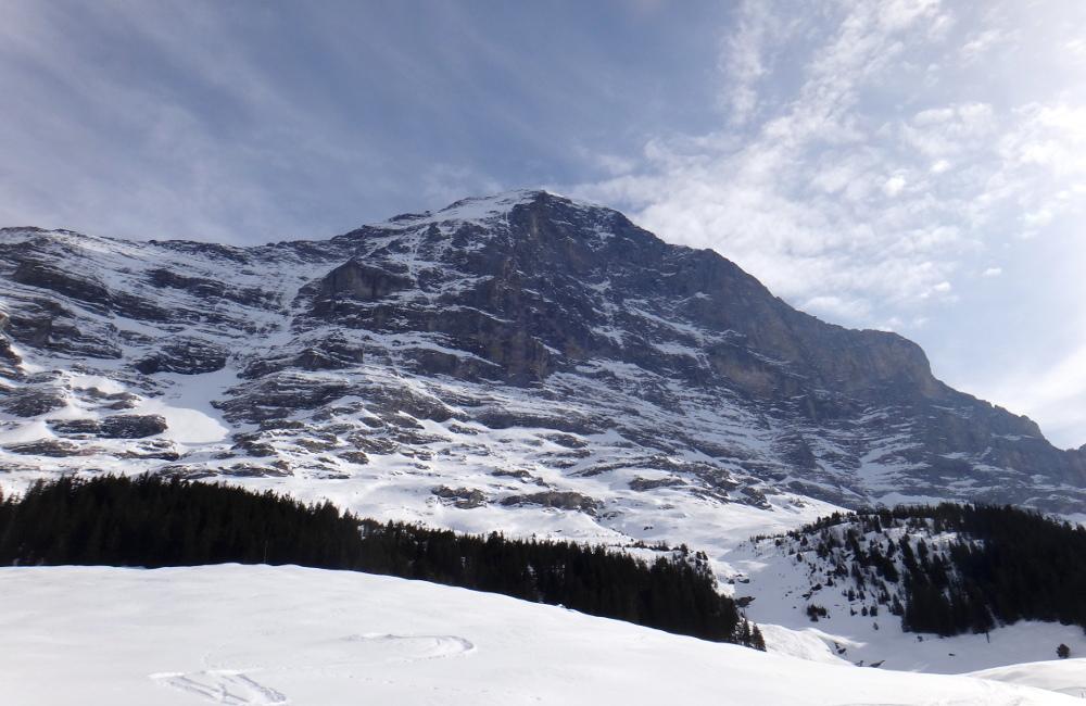 Eiger w całej okazałości- północna ściana (fot. autor)