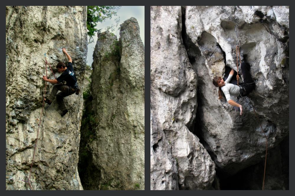 Jura Południowa - Po lewej: Lewy Meningitis, po prawej: Boskie Buenos (fot. A. Mirek)