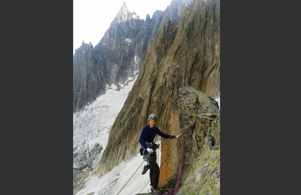 Autor na szczycie Tour Verte (fot. S. Szlagowski)