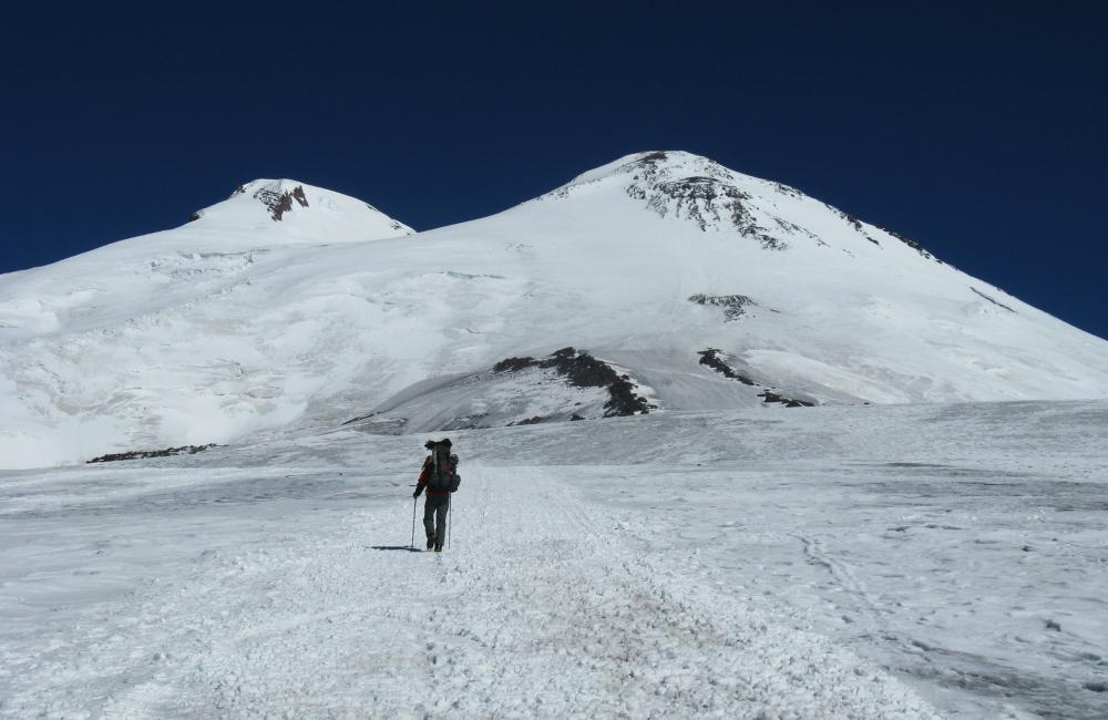 Elbrus - dwugłowa góra