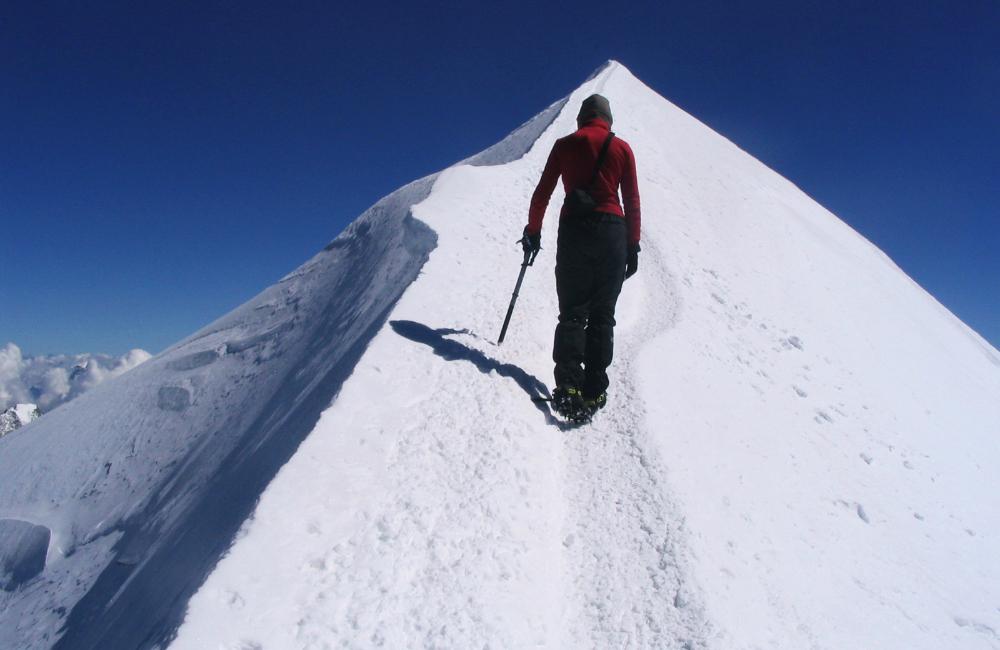 Ostatnie metry w drodze na szczyt Mont Blanc