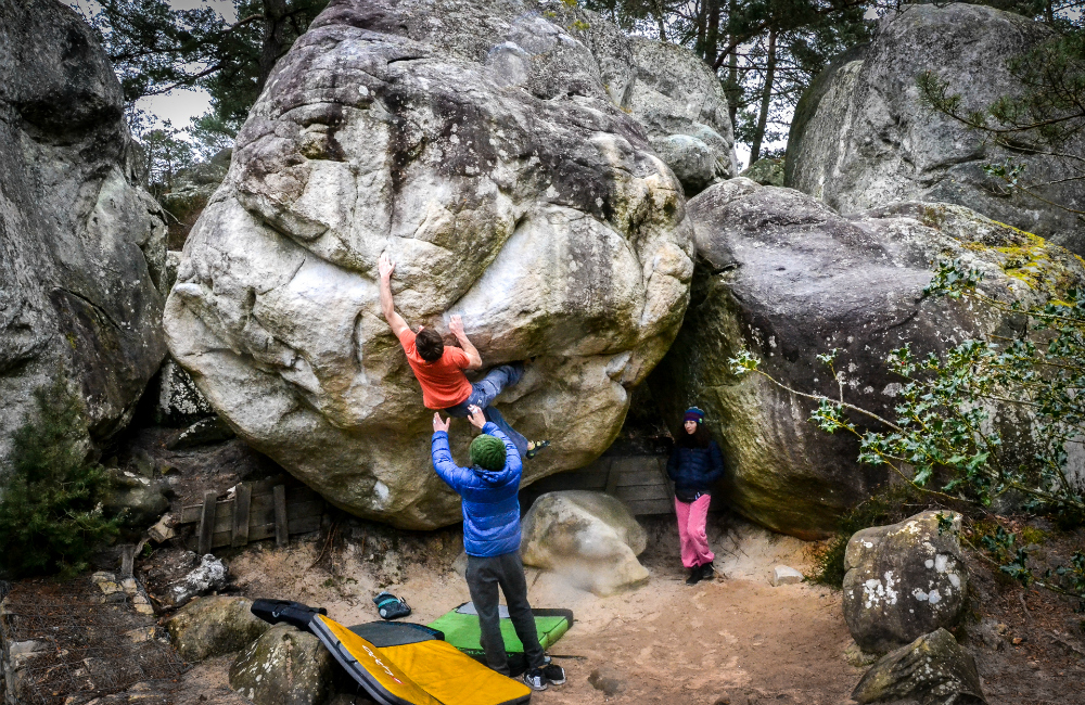 Big Golden 7C+, Fontainebleau - bouldering