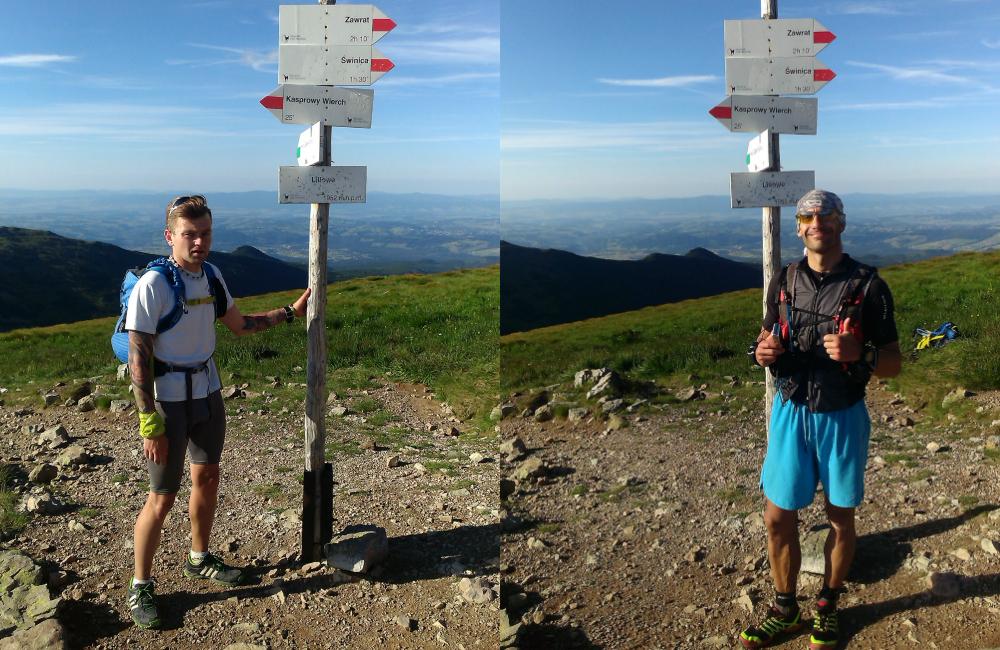 Bieganie po górach - na mecie- zmęczeni, ale szczęśliwi (fot. autor)