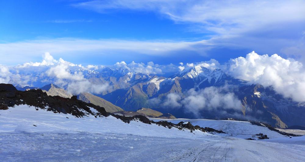 Nie tylko rywalizacją zawodnik żyje... udział w Elbrus Race to również okazja na podziwianie pięknych widoków (fot. ze zbiorów autorki)