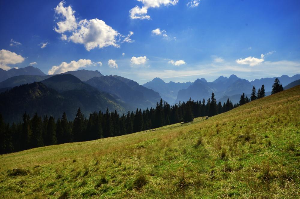 Widok na Rysy, Wysoką, Ganek oraz Gerlach