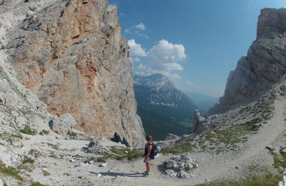 Widoki rozpościerające się w Dolomitach zapierają dech w piersiach (fot. autor)