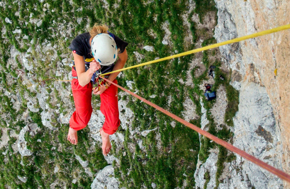 Zjazdy z Naranjo de bulnes - przyrząd Climbing Technology Alpine Up w trybie click up