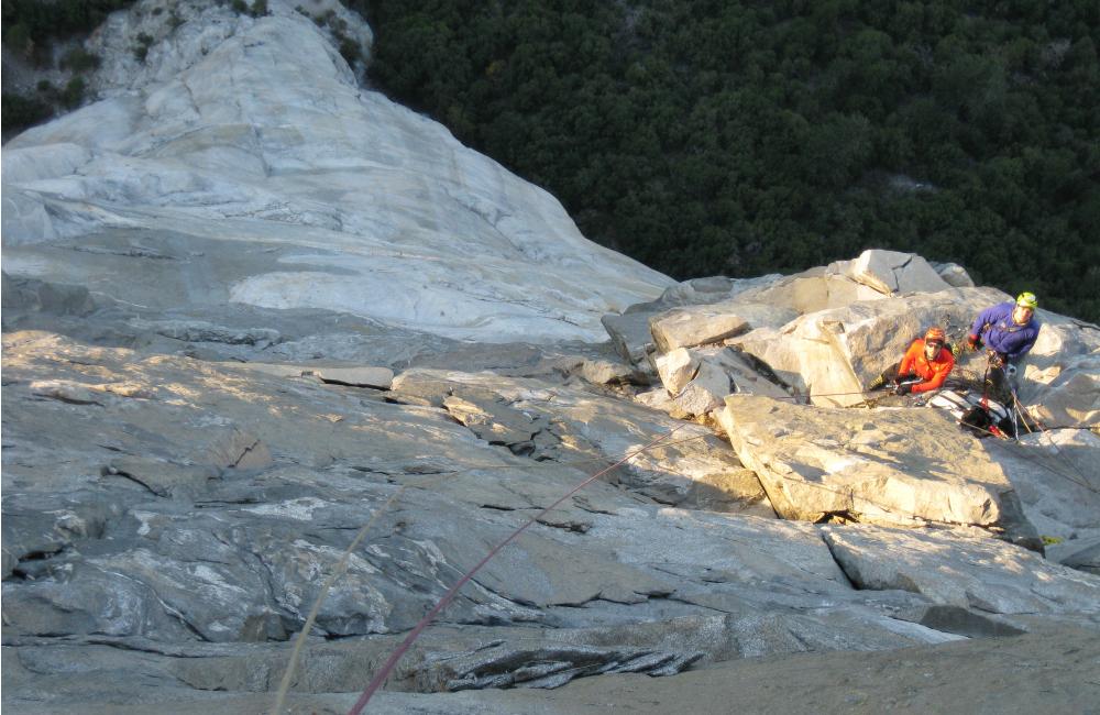 Poranek po drugim biwaku na drodze The Nose na El Capitan (fot. autor)