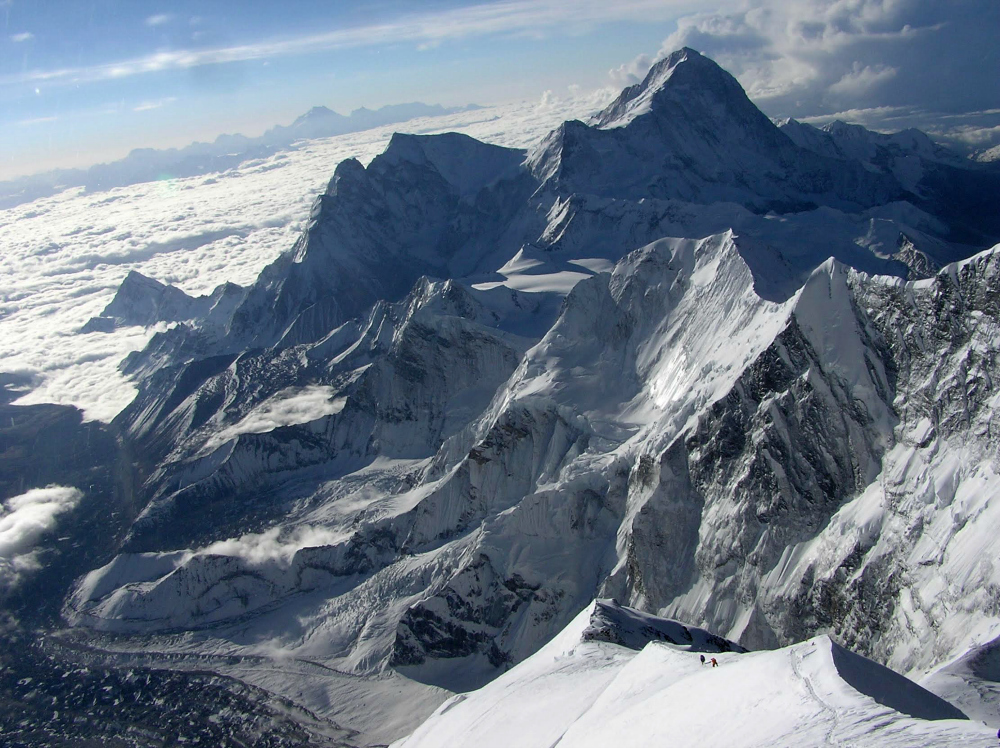 Widok z Mount Everest na Makalu