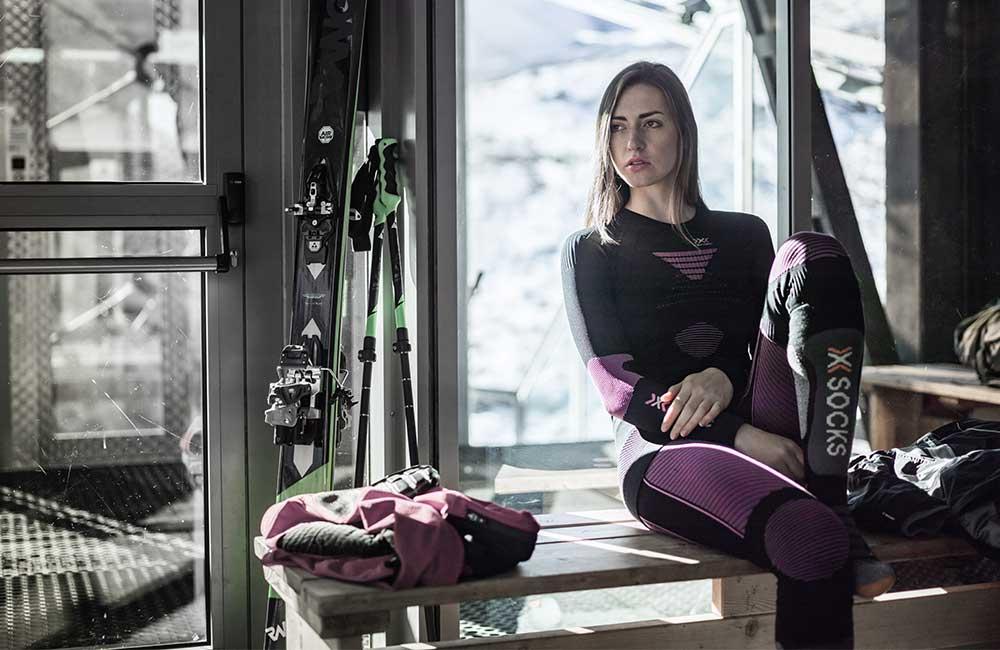 Wysokie skarpety narciarskie