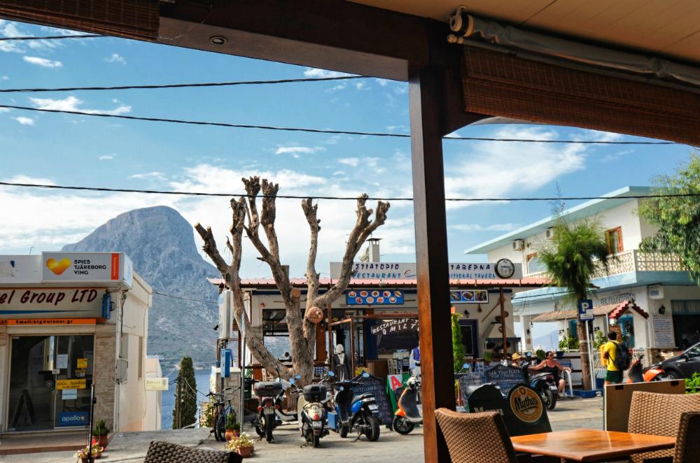 Jedna z popularniejszych restauracji na Kalymnos (fot. Paweł Wrona)