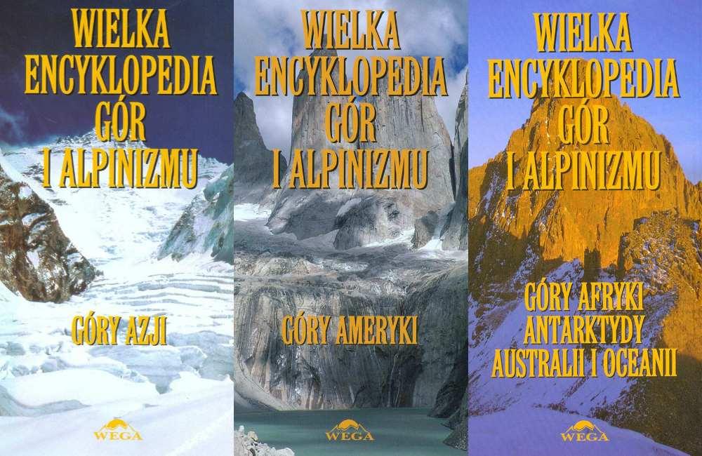 """książki z serii """"Wielka Encyklopedia Gór i Alpinizmu"""""""