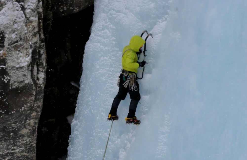 wspin na lodospadach