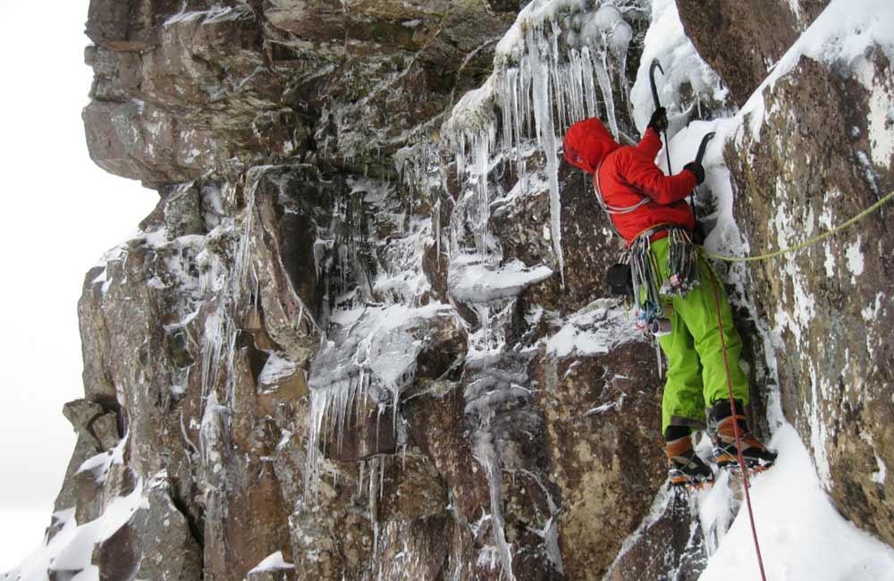 wspinanie na lodospadzie