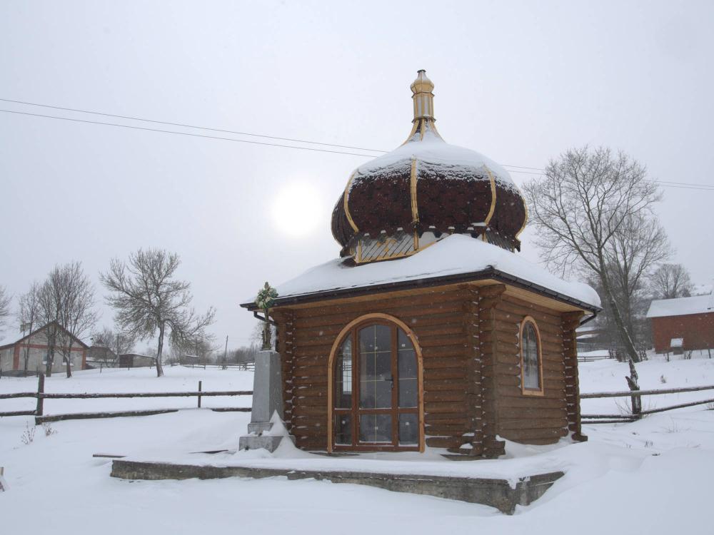 Góry na Ukrainie zimą
