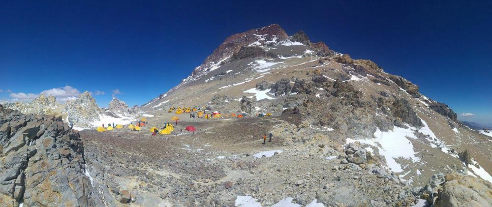 Obóz Colera 5900 m n.p.m - Najwyższy szczyt w Andach