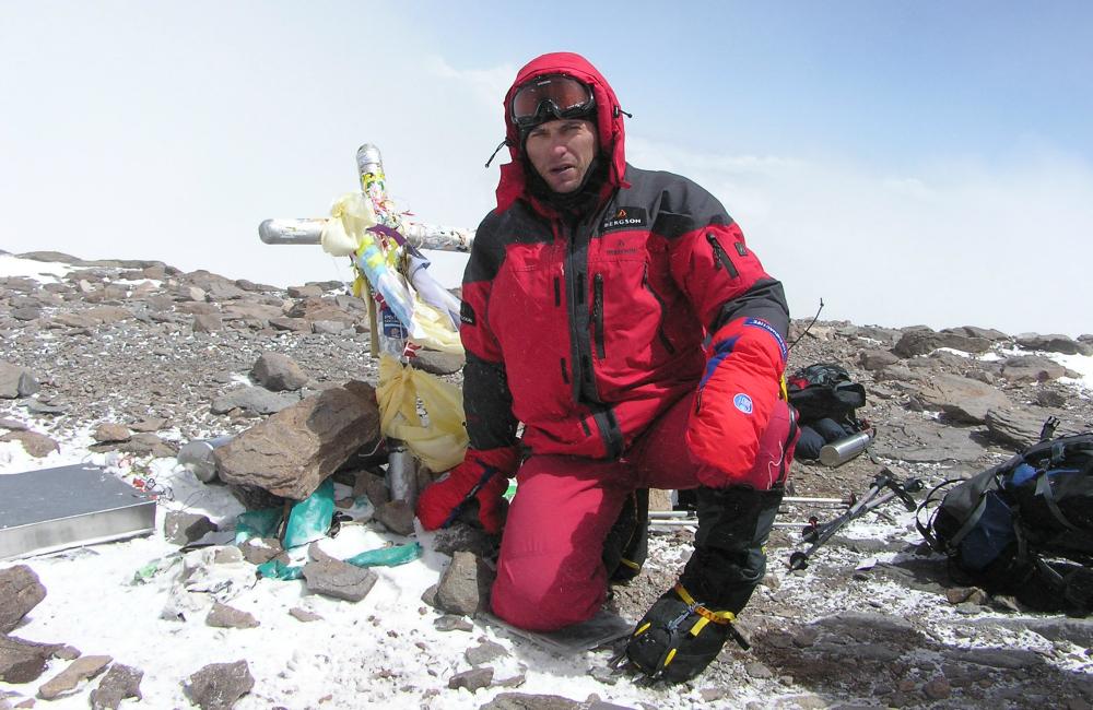 Jak wejść na Aconcaguę - Tomasz kobielski na szczycie