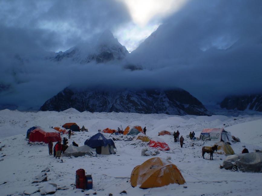 Obóz w górach wysokich