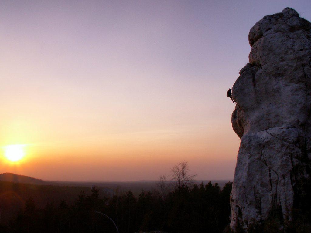 Wspinaczka na Górze Zborów