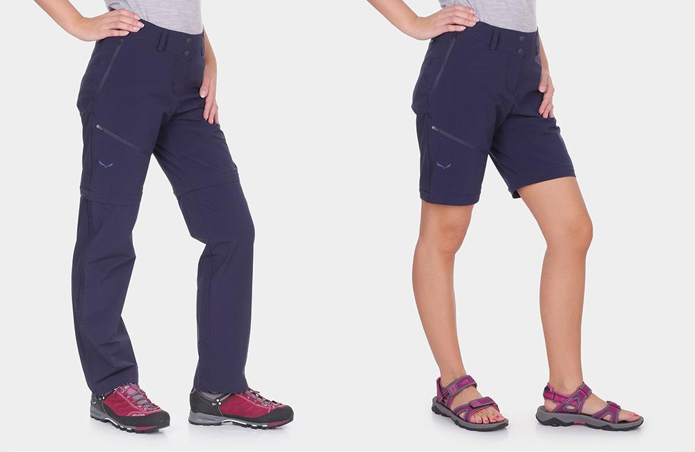 spodnie górskie z odpinanymi nogawkami