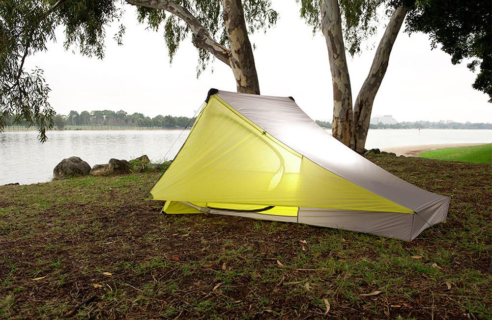 mały namiot rowerowy