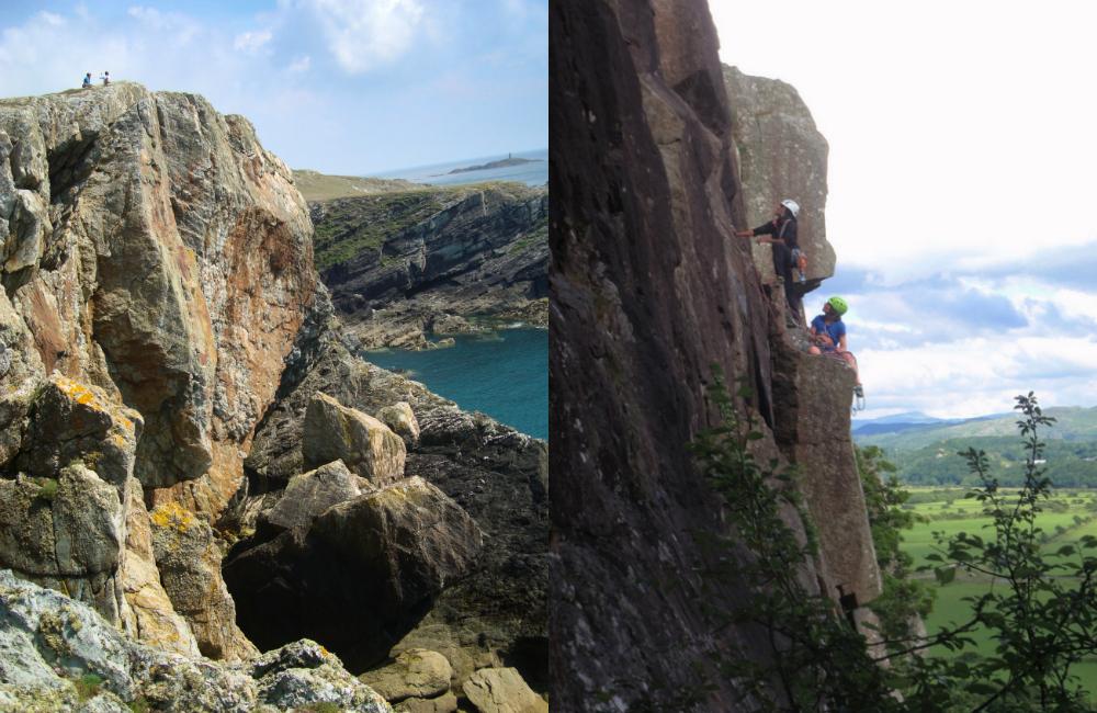 Walijskie klify dla wspinaczy