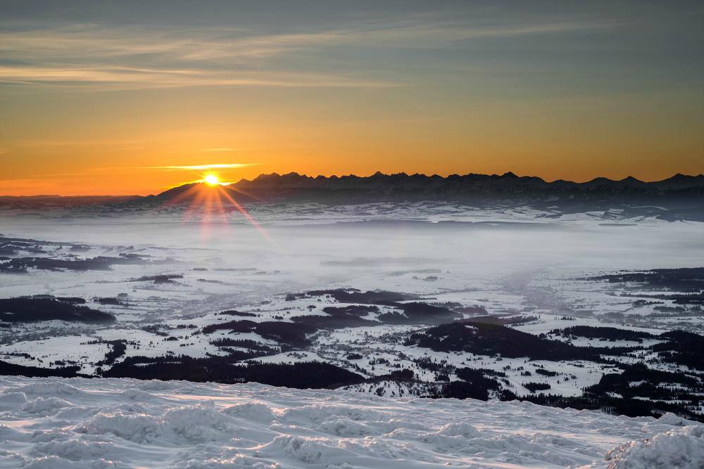 Babia Góra wschód słońca