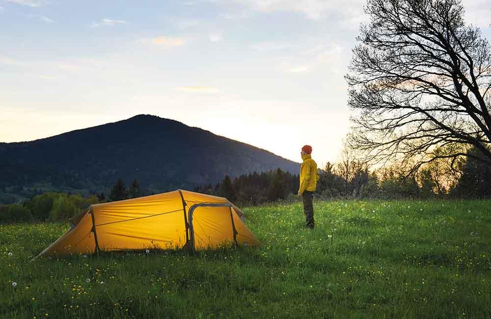wytrzymały namiot na rower