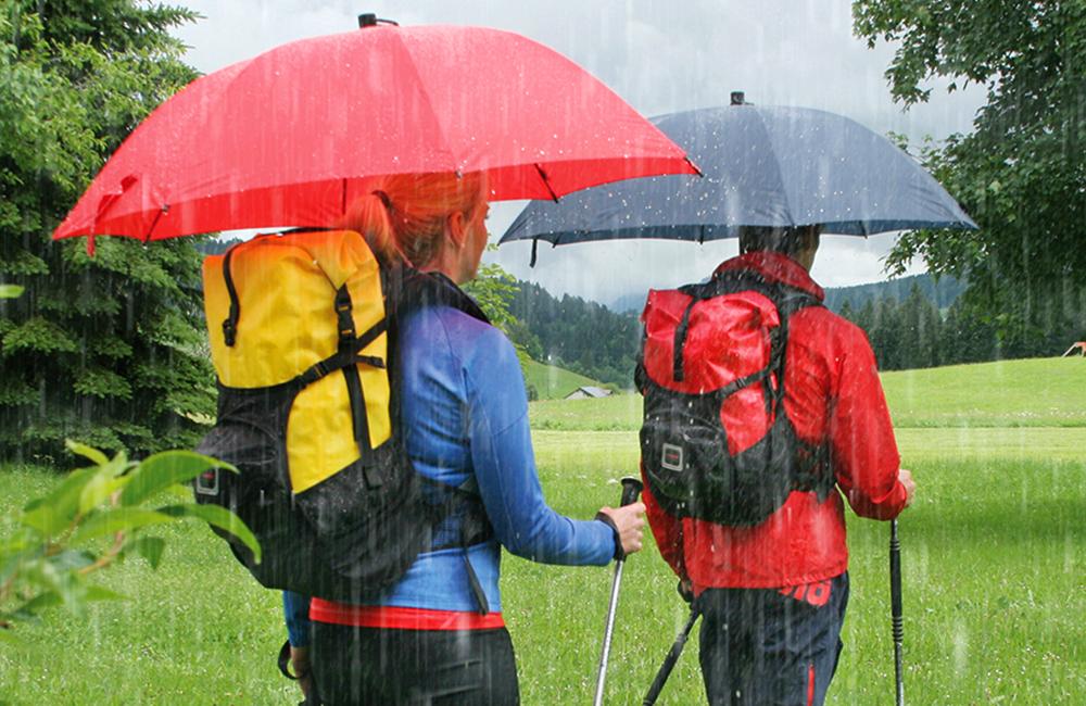 parasol do wędrowania po górach