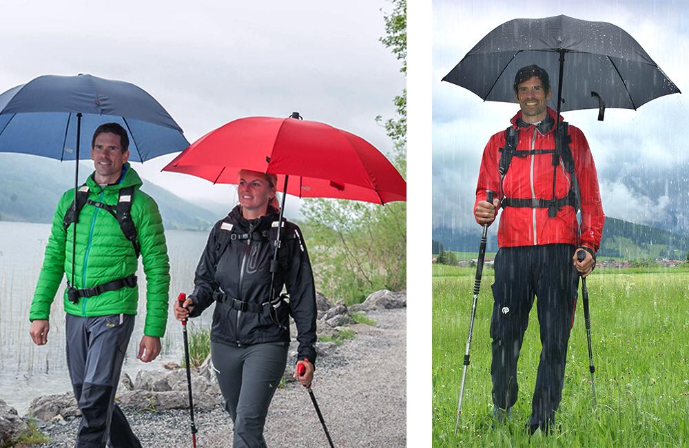 parasolka do chodzenia z kijkami