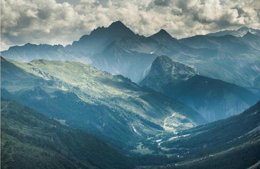 trasa turystyczna w Alpach