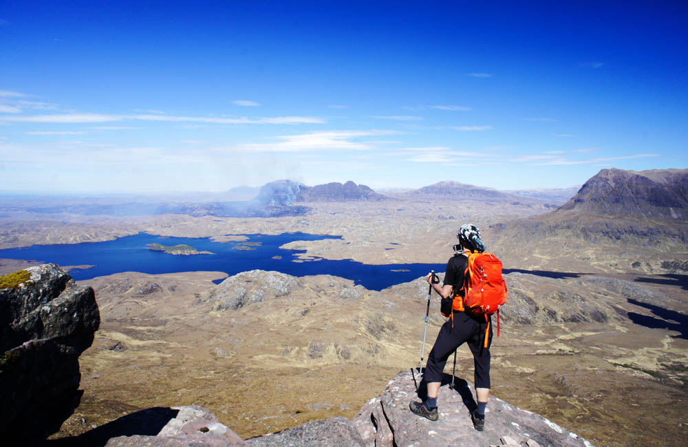 Szkocja trekking z plecakiem gregory salvo 24