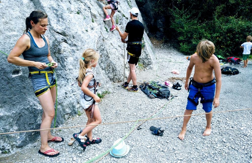 rodzinny wyjazd w skały