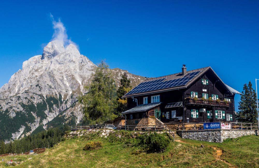 Schroniska w Alpach