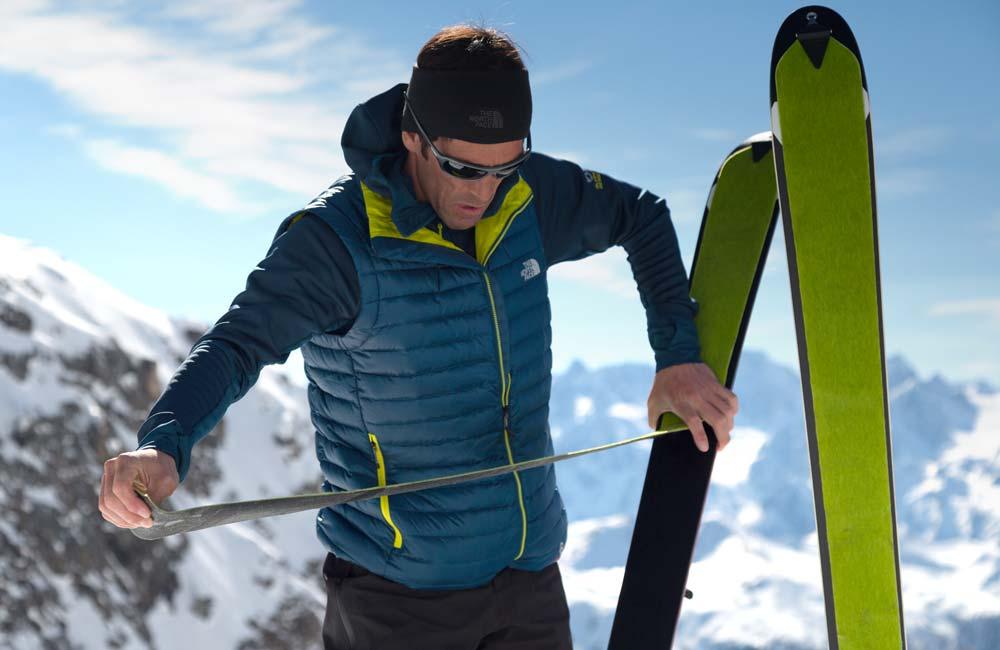 Zakładanie fok na narty