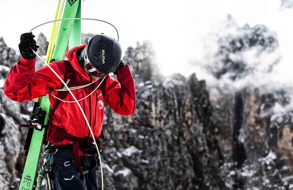 Kask dla skialpinistów