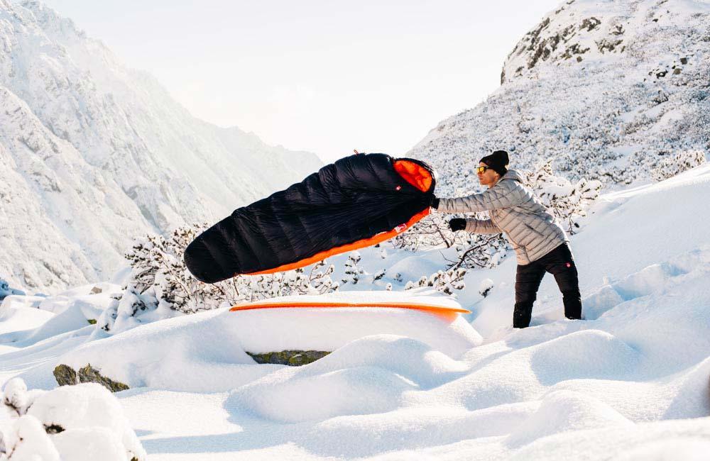 Śpiwór na zimę w góry