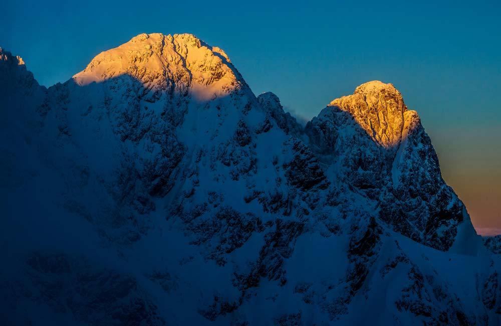 Wschód słońca w Tatrach