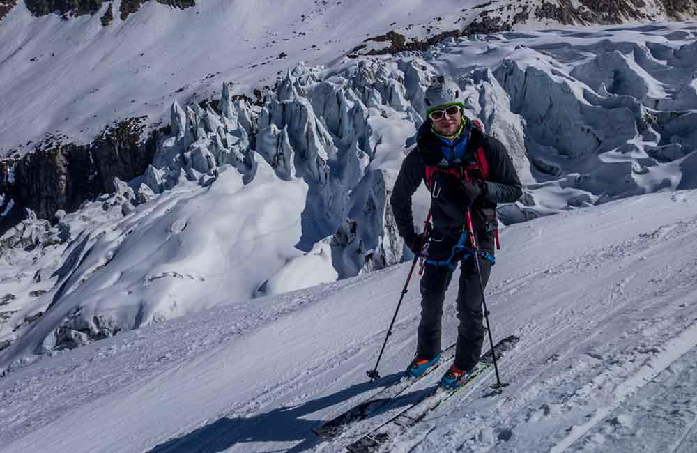 Skitury na alpejskich lodowcach