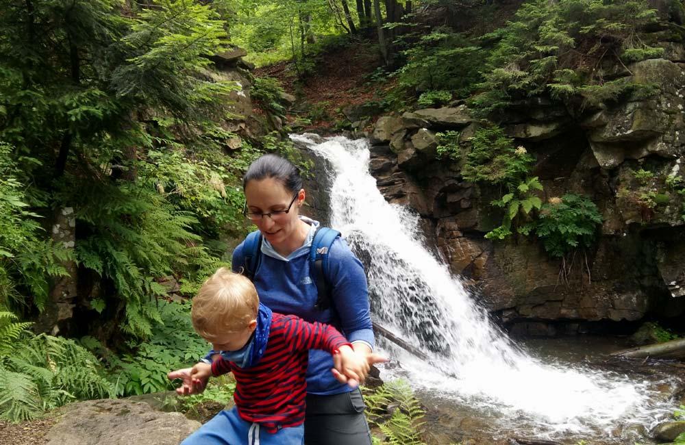 Atrakcje dla dzieci w Beskidzie Śląskim - wodospad