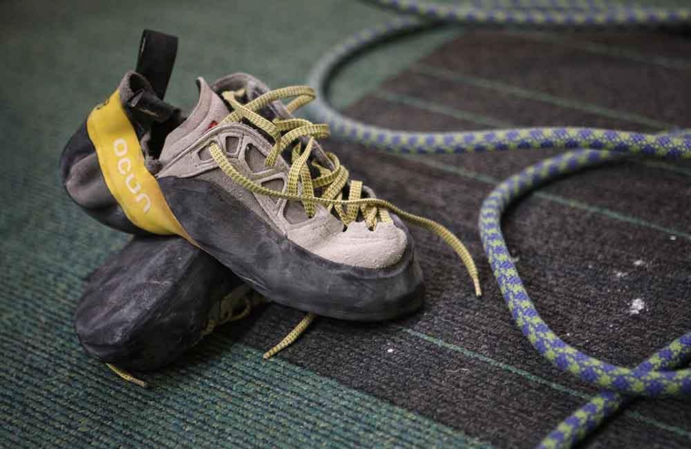 Buty wspinaczkowe asymetryczne