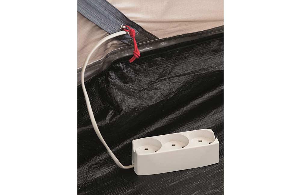Podłączenie prądu w namiocie